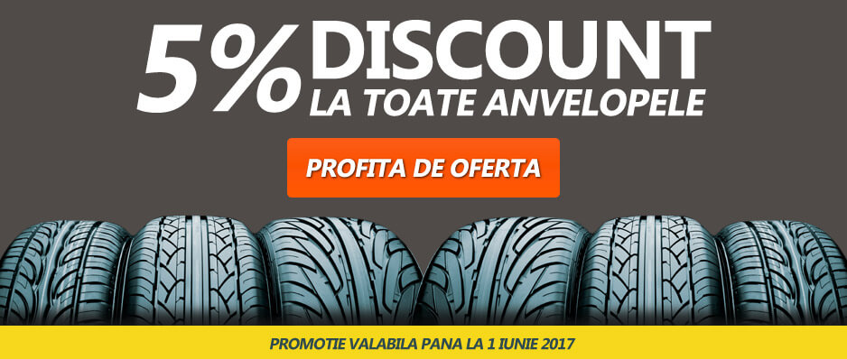 Discount 5% la toate anvelopele
