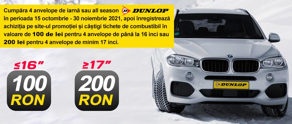 Promotie anvelope iarna Dunlop