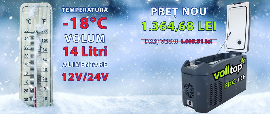 Frigider portabil VollTop FDC-15F de 15 litri cu compresor