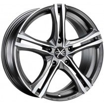 Janta aliaj OZ X5B Matt Graphite Diamond Cut 7.5x17 5x120 ET47
